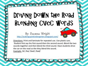 Driving Down the Road Blending CVCC words