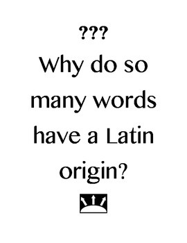Driving/ Essential Questions for Latin or Greek Stems Study