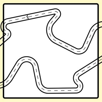 Driving Race Tracks for Tracing Etc Clip Art Set for Commercial Use