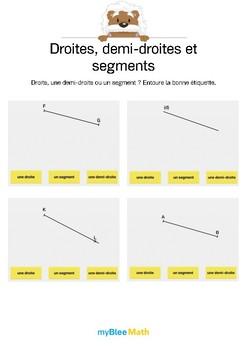Droites, demi-droites et segments 1 -Retrouve le nom de ce tracé