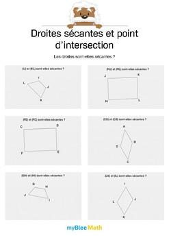 Droites sécantes et point d'intersection 2 -Les droites sont-elles sécantes ?