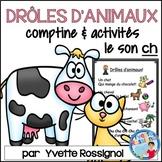 """Centres de littératie - Mots fréquents - Le son """"ch"""" -  French Phonics"""