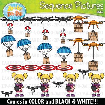 Drones Sequence Action Pictures Clipart {Zip-A-Dee-Doo-Dah Designs}