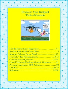 Drones in Your Backyard: A Reading and Science Mini Unit on Drones