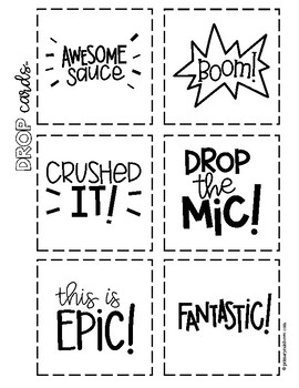 Drop Cards™ 26 Positive Notes for Students