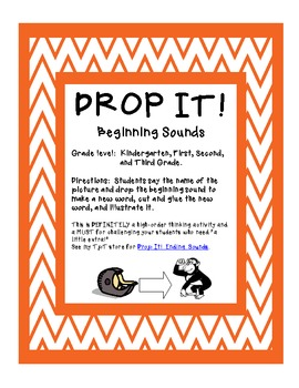 Drop It! {Beginning Sounds}