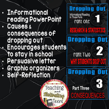 Drop Out Statistics & Facts PPT, Letter Rubric, Goal-Setting, Solutions