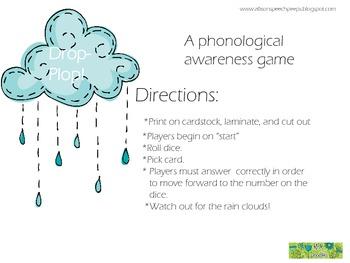Drop-Plop! A phonological awareness game