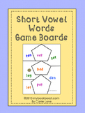 Short Vowels Game Boards