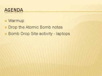 Drop the Atomic Bomb PowerPoint (PDF version)