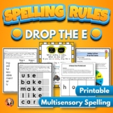 Drop the E Spelling Rule Activities