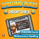 Drop the E Spelling Rule Digital Boom Task Cards Distance Learning