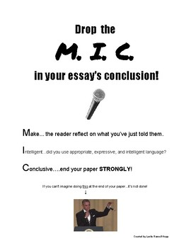 Drop the MIC- conclusion
