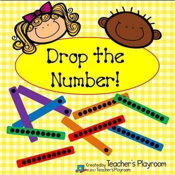 Drop the Number--Place Value Counting and Comparing Math Center