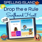 Drop the Silent e Spelling Rule Boom Card Hunt Game