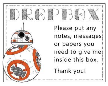 """Dropbox"" - Basket Label"