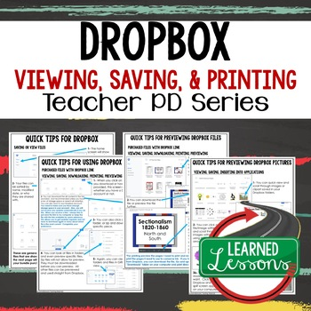 Dropbox for TpT Buyers and Sellers Tips, Instructions Teacher PD Series