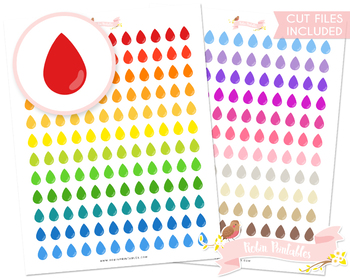 Droplet Printable Planner Stickers