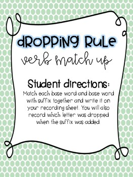 Dropping Rule-Spelling Unit