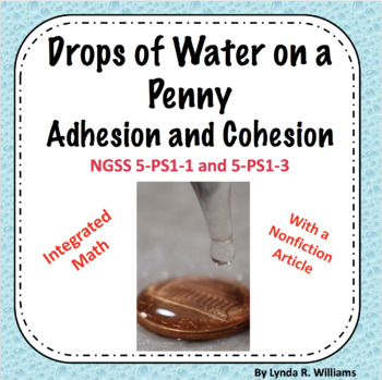 Drops of Water on a Penny Lesson 5 E Lesson (Cohesion and