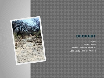 Drought and Tucson Arizona