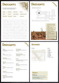 Droughts - Puzzles & Glossary