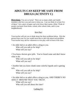 Drug, Alcohol, & Tobacco lesson for Elementary kids