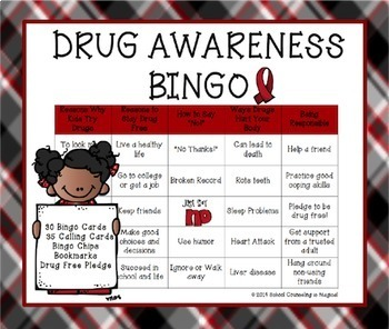Drug Awareness Bingo & Scoot Game Bundle