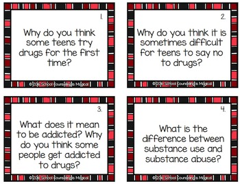 Drug Awareness Discussion Cards for Teens