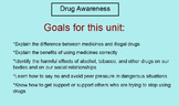 Drug Awareness Unit (Health:  Grades 2 - 6) Smart Board &