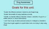Drug Awareness Unit (Health:  Grades 2 - 6) Smart Board &
