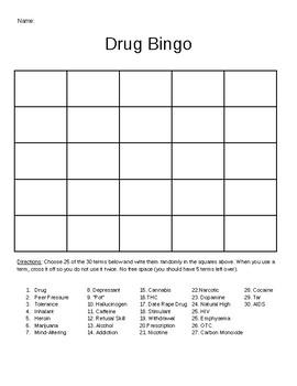 Drug Bingo