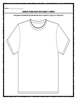 Drug Contest T-shirt Template