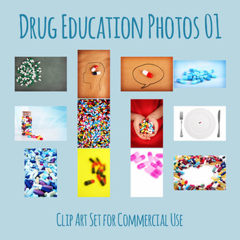 Drug Education Photos Group 01 Clip Art Set for Commercial Use