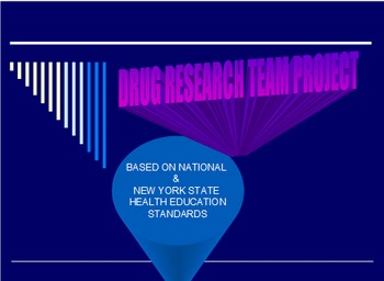 Drug Education Team Research Project Timeline