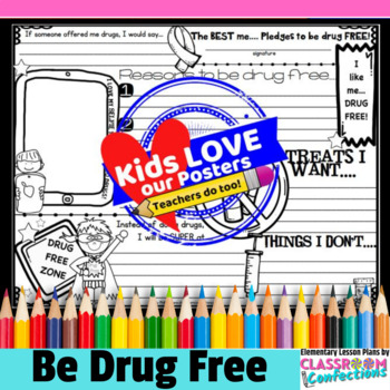 Drug Free Activity Poster: perfect for Red Ribbon Week
