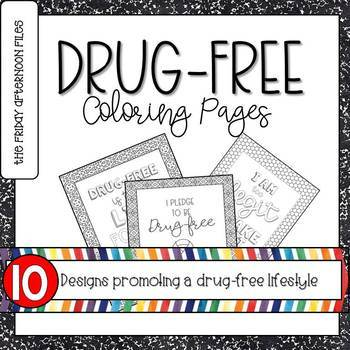 Drug Free Coloring Pages By The Friday Afternoon Files Tpt