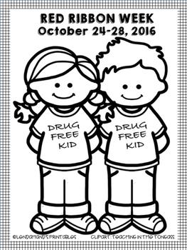 Drug Free Coloring Sheet (K-2)