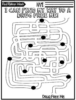 Drug Free Red Ribbon Week {Quick No-Prep}