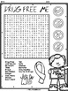 Drug Free: Red Ribbon Week Word Search Activity