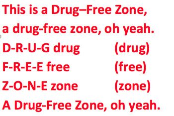 Drug Free Zone *RED RIBBON WEEK* Rap