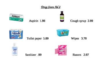 Drug Store Ad Math Worksheet 2