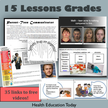 Drug Lessons: Get 15 Drug Lesson Plans in this BEST SELLING Health Unit