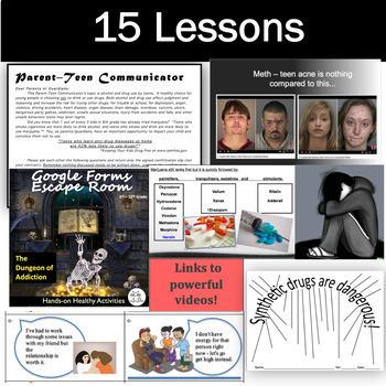 Drug Lessons: Get 15 Drug Lesson Plans in this BEST SELLING Drug Unit