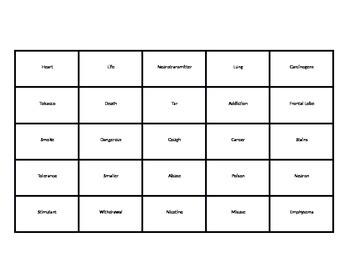 Drug Unit Bingo Game