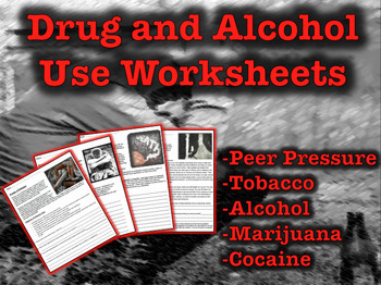 Drug and Alcohol Use Worksheets (Peer Pressure)