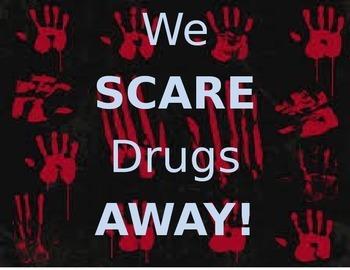 Drug free week Scare drugs away