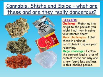 Drugs: Cannabis, Shisha and Spice