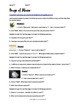 Drugs & The Nervous System - Bundled Unit in Word