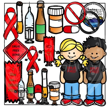 Drugs and Alcohol Clipart Bundle